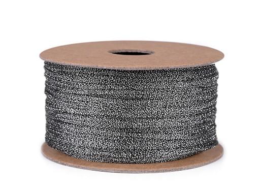 Lurexová šňůrka plochá / provázek šíře 2,5 mm