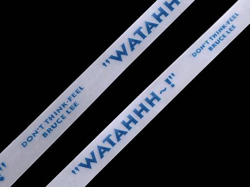 Silikonová tkanička do kapucí šíře 15 mm