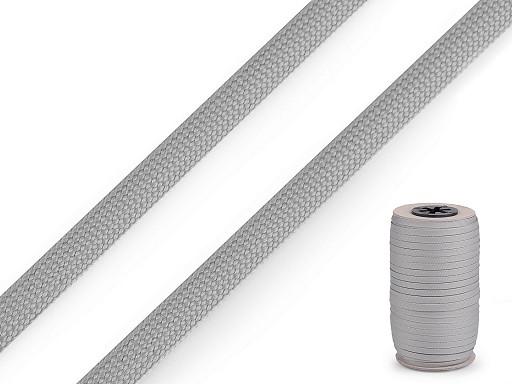 Polyesterová šnúra plochá / dutinka šírka 8 mm