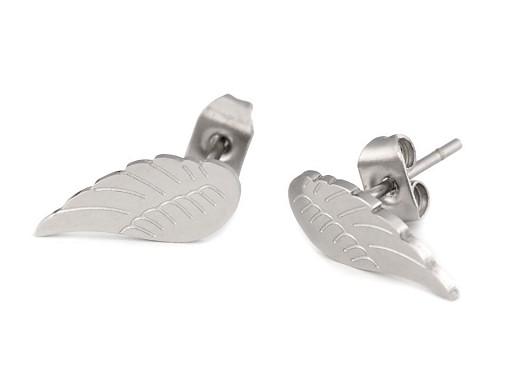 Náušnice křídla z nerezové oceli