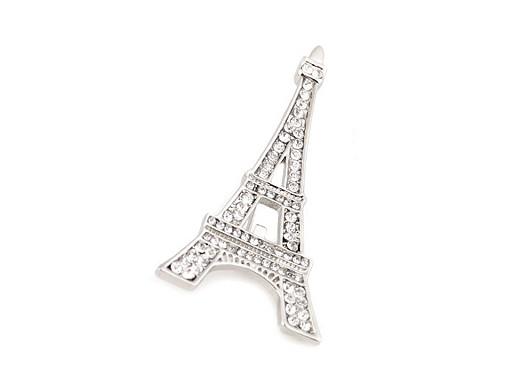 Brož s broušenými kamínky Paříž, mašle