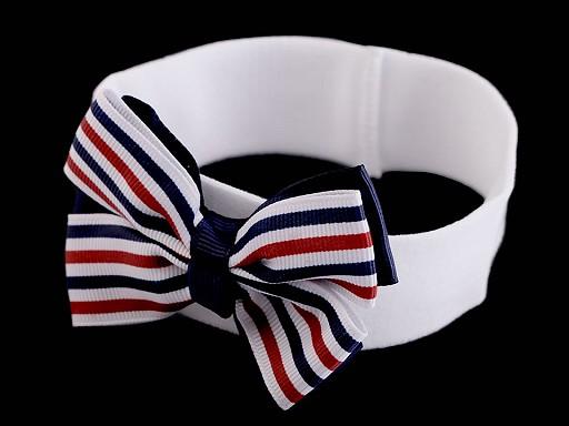 Dětská elastická čelenka do vlasů námořnická