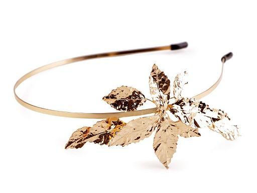 Kovová čelenka do vlasů s listy