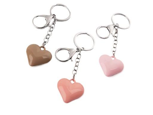 Přívěsek na kabelku / klíče srdce
