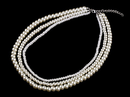 Perlový náhrdelník víceřadý