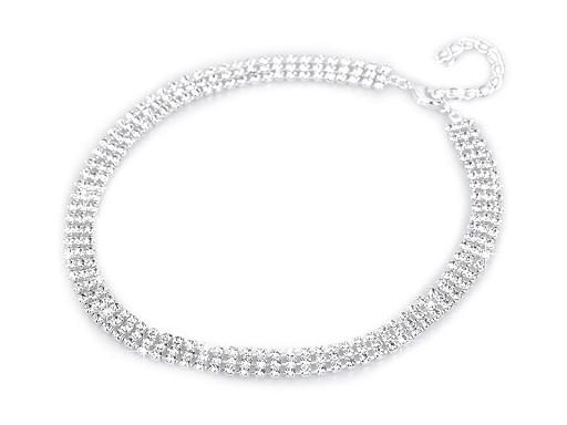 Štrasový náhrdelník třířadý - jablonecká bižuterie