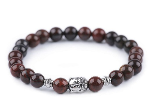 Buddha náramek minerály, pánský