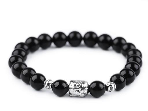 Buddha náramok obsidián, dámsky