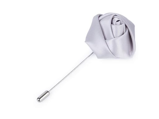 Broszka / przypinka do marynarki  na szpilce ozdobnej róża