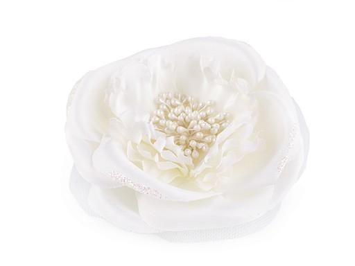 Brož / ozdoba růže Ø10,5 cm