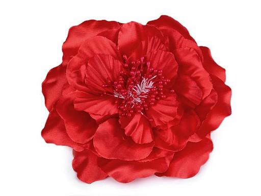 Brož / ozdoba růže s perleťovým leskem Ø13 cm