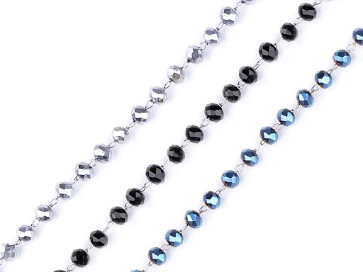 Stainless Steel Necklace with Rhinestone Crystals