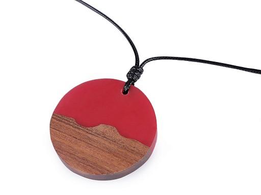 Náhrdelník ze dřeva a pryskyřice