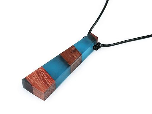 Designový náhrdelník ze dřeva a pryskyřice