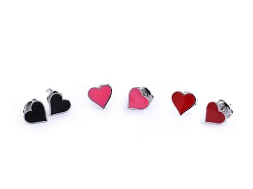 Náušnice z nerezové oceli srdce