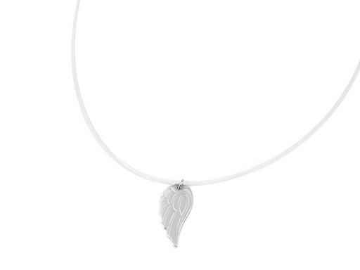 Náhrdelník s přívěskem z nerezové oceli křídlo, srdce