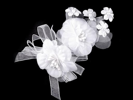 Broszka / spinka do włosów kwiaty