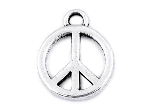 Přívěsek peace Ø12 mm
