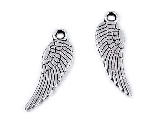 Přívěsek andělské křídlo 5x17 mm