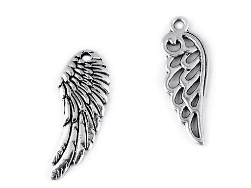 Prívesok anjelský krídlo 10x26 mm