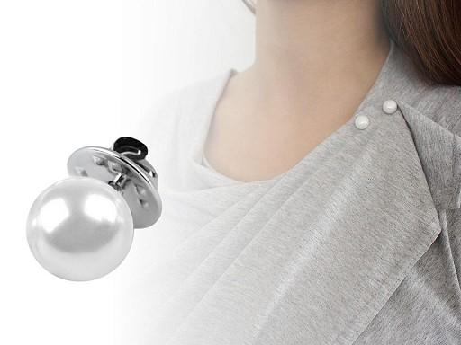 Ozdobné zapínání / brož perla