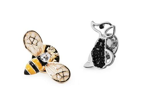 Broszka / pins pies, pszczoła
