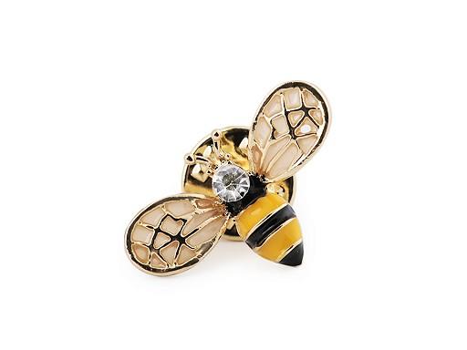 Brož / odznak pes, včela