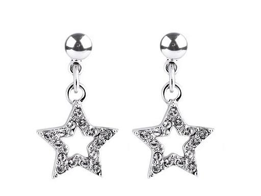 Náušnice se Swarovski Elements hvězda