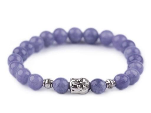 Buddha náramek avanturín modrý, dámský