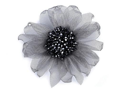 Brosche Blume mit geschliffenen Perlen