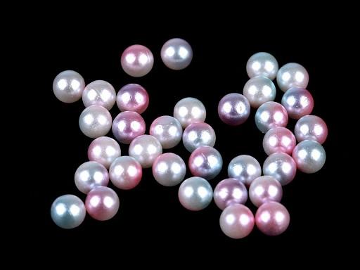 Perly / kuličky bez dírek Ø6 mm k nýtování duhované