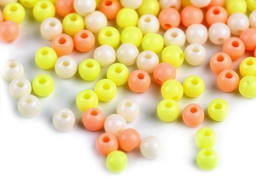 Plastové koráliky Color Ø4 mm farebný mix