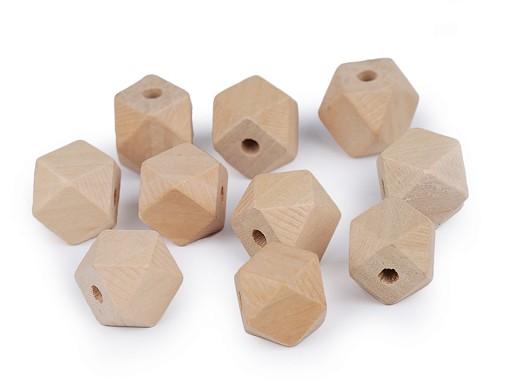 Koraliki drewniane nielakierowane 15x15 mm
