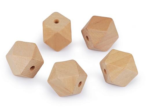 Dřevěné korálky nelakované 20x26 mm