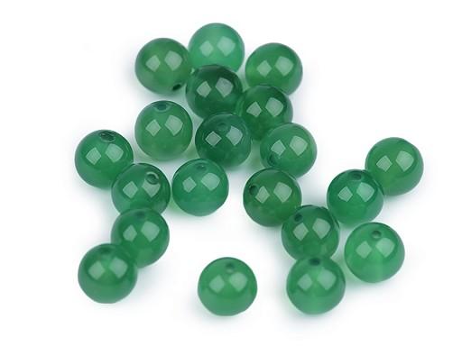 Koraliki minerały Agat zielony Ø8 mm