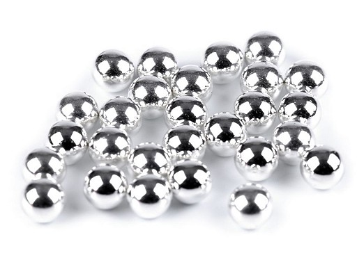 Perly / korálky Ø6 mm a 8 mm k nýtování  bez dírek