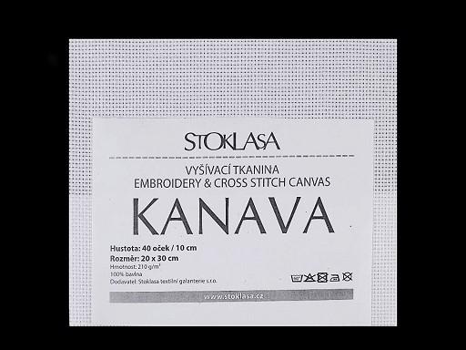 Vyšívacia tkanina Kanava 20x30 cm 40 očiek