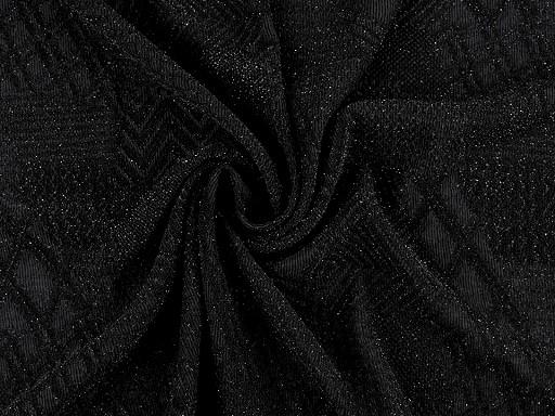 Pletenina vzorovaná s lurexem
