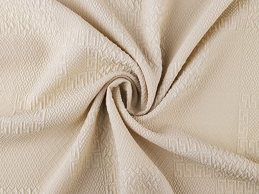 Krep polyesterový s plastickým vzorem