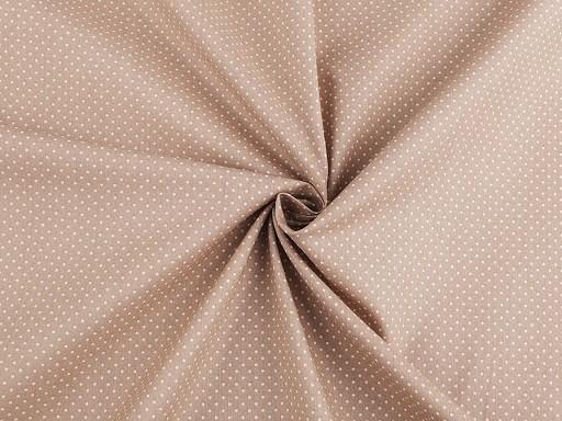 Dekorační bavlněná látka puntíky