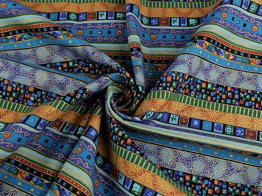 Tkanina bawełniana ze złotym nadrukiem