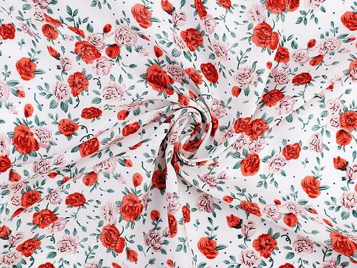 Viskózová látka kvety