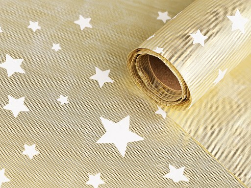 Christmas Decorative Fabric with Stars width 48 cm 2nd quality