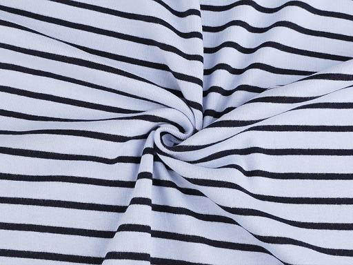 Úplet bavlnený obojlíci jersey s pruhmi
