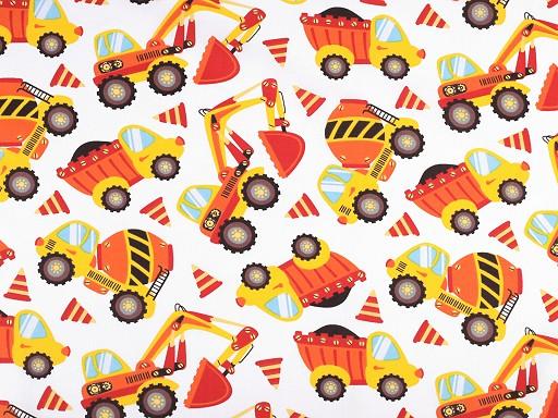 Bavlněná látka dětská - auta