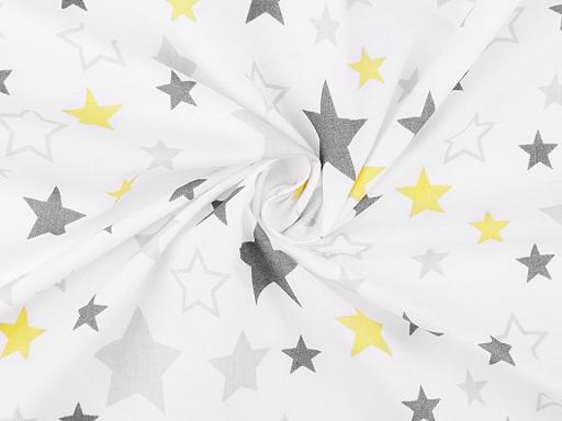 Tkanina bawełniana gwiazdy