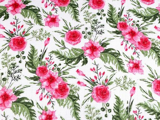Bavlněná plenkovina květy