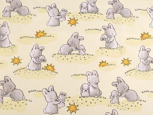 Baumwollstoff Kaninchen