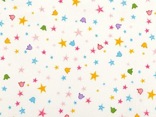 Bavlněná látka hvězdy