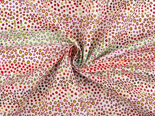 Bavlněná látka abstraktní puntíky